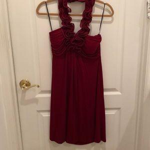 Red Flirty Midi Dress